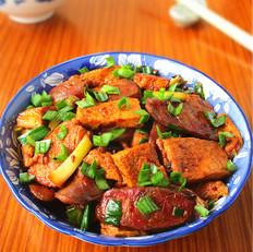 香肠炒千页豆腐