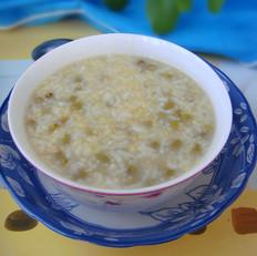 虾皮粉绿豆小米粥