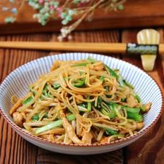 韭菜肉丝米粉