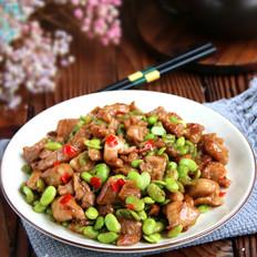 鸡丁炒毛豆子