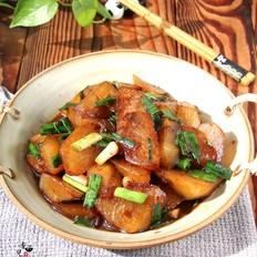 蚝油青蒜炖萝卜