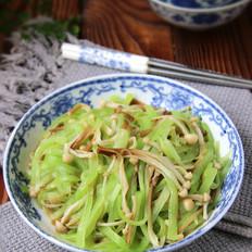 金针菇炒莴笋丝