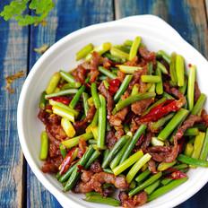 年夜饭硬菜之蒜苔爆羊肉