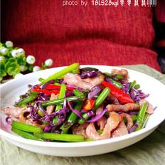 紫甘蓝炒肉丝的做法大全