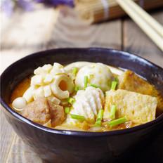 韩式辣白菜丸子汤