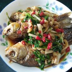 午餐---芹菜鲫鱼