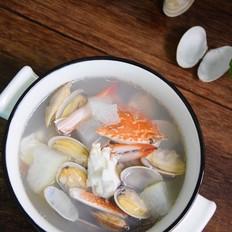 冬瓜双花海鲜汤