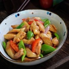 黑椒杏鲍菇炒鸡柳