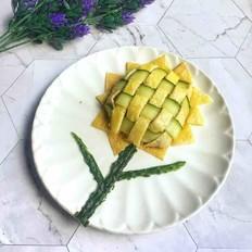 儿童创意向日葵盖饭