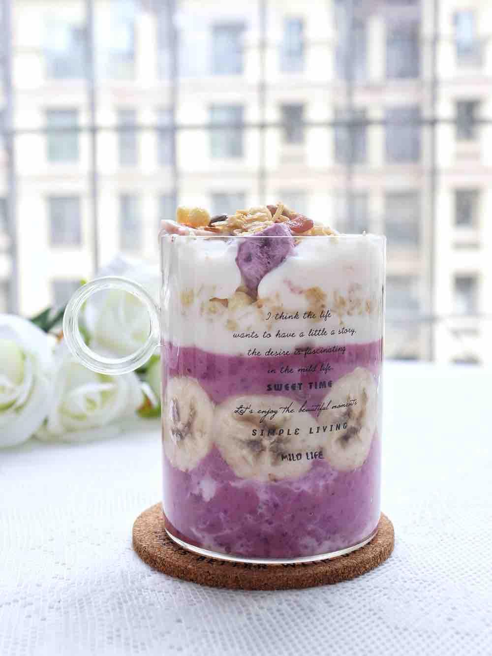 紫薯酸奶燕麦脆