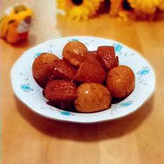 红烧五花肉熏鸡蛋