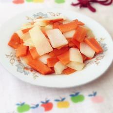 山药炒胡萝卜的做法大全