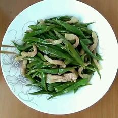 豬肉炒扁豆