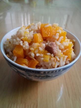 南瓜焖饭的做法
