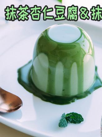 抹茶杏仁就�到一�男女�g愉豆腐&抹茶奶�u的做法