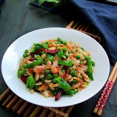 豌豆炒河虾