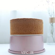 6寸可可戚风蛋糕