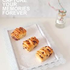 炼奶蜜豆蔓越莓小餐包
