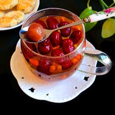 红枣桂圆菊花枸杞养生茶