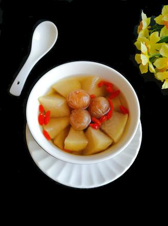 电饭煲版雪梨龙眼甜汤的做法