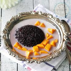 椰汁芒果黑米捞