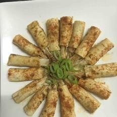 豆腐皮卷金针菇
