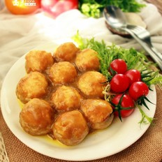 咖喱虾蓉酿口蘑