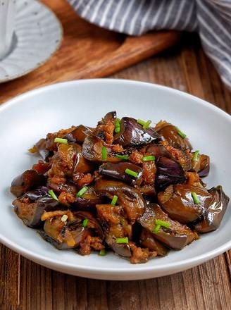 橄榄菜肉末茄子的做法