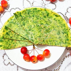 芹菜叶蛋饼