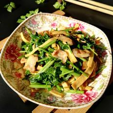 芹菜豆皮炒五花肉