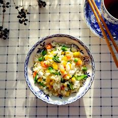 芦笋咸蛋炒饭