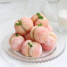 仿真水蜜桃软饼干#下午茶#