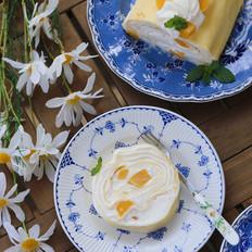 黄桃千层蛋糕卷