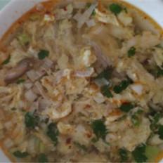 香菇肉丝酸辣鸡蛋汤
