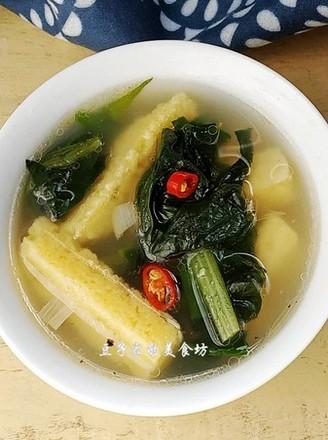 杂粮菠菜汤的做法