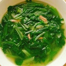 小白菜肉丝汤