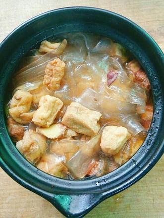 红烧肉炖豆腐泡的做法