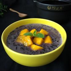 芒果椰汁黑米粥
