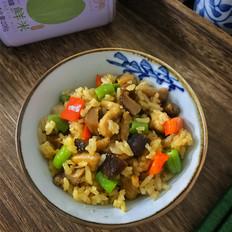 豆角香菇鸡腿焖饭
