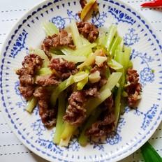 西芹炒牛肉