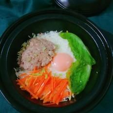 窝蛋肉松焗饭
