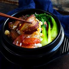 砂锅腊肉煲仔饭