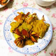南瓜炖螃蟹