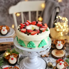圣诞树蛋糕