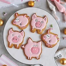 粉红猪糖霜饼干