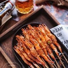 黑椒金丝烤虾