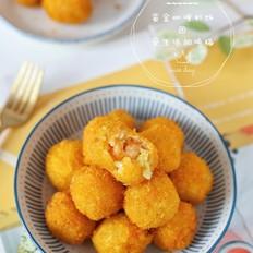 黄金咖喱虾饭团