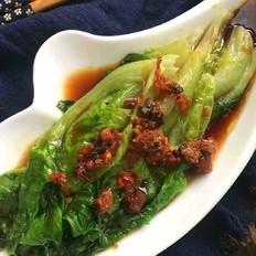 鲍鱼干贝白灼生菜