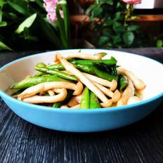 蚝油芦笋炒海鲜菇