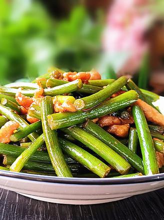 蒜苔肉丝的做法